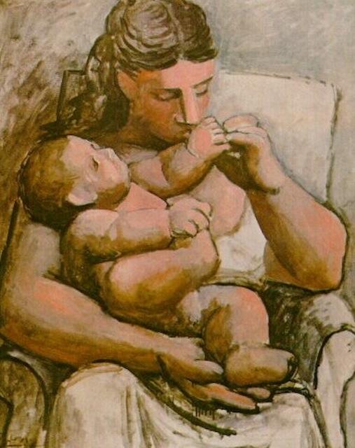 madre e figlio Pablo Picasso